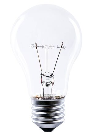 light bulb isolated bevor white background photo