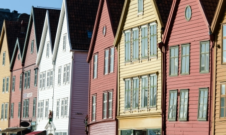house front: the house front of Bryggen in Bergen, Norway