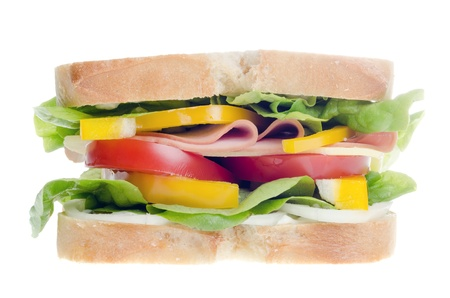 a sandwich isolated before white background photo