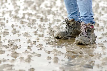 slushy: walk across the mudflats at the North Sea