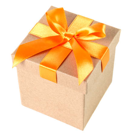 free gift: a gift box with ribbon isolated