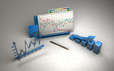 stock image: business finance chart, diagram, bar, graphic