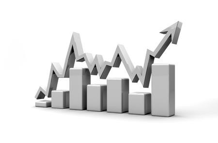 forecast: business finance chart, diagram, bar, graphic