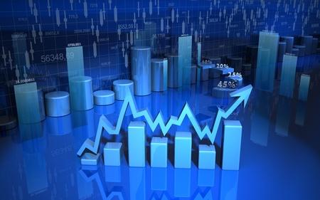 grafica de barras: negocio gr�fico finanzas diagrama de barras, gr�ficos Foto de archivo