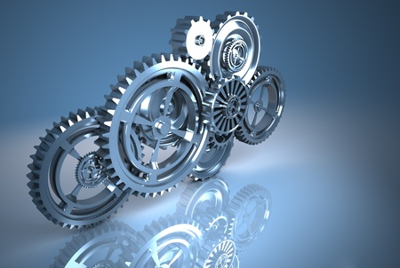 gear machinery and titanium concept
