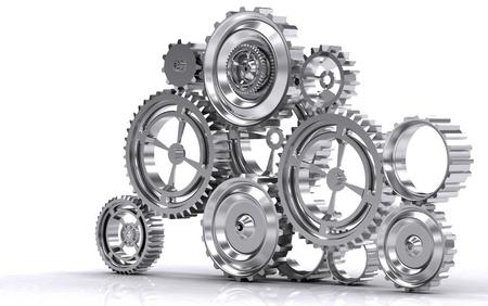 titanium: gear machinery and titanium concept