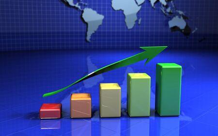 business graph, chart, diagram photo