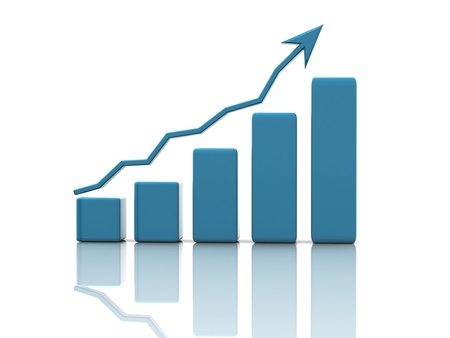 growth chart: Business finance image Stock Photo