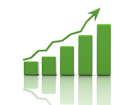 stock graph: Business finance image Stock Photo