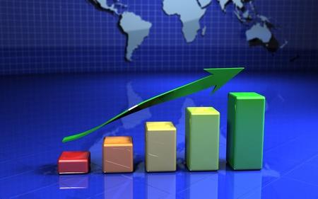 Business finance image Standard-Bild