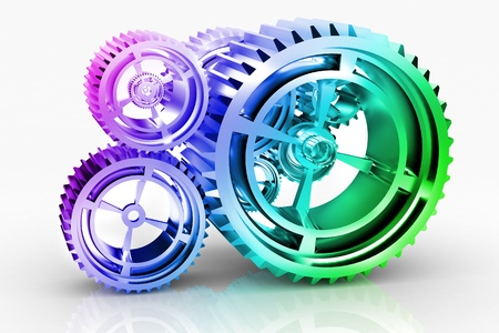 pinioncooperation: Machine Gears and titanium concept Stock Photo