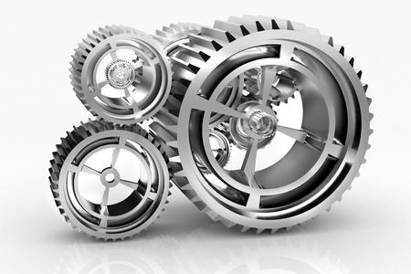 Machine Gears and titanium concept Stock Photo