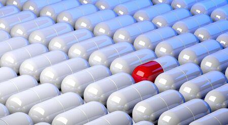 Medicinel capsules Standard-Bild