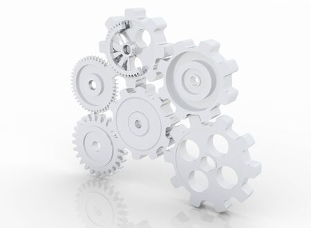gear machinery and titanium concept Stock Photo - 18538703