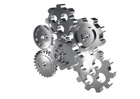 gear machinery and titanium concept Stock Photo - 18538704