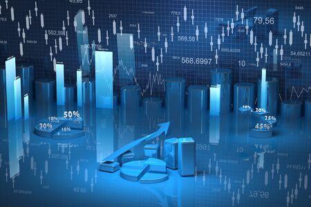 finance background: business finance chart, diagram, bar, graphic  Stock Photo