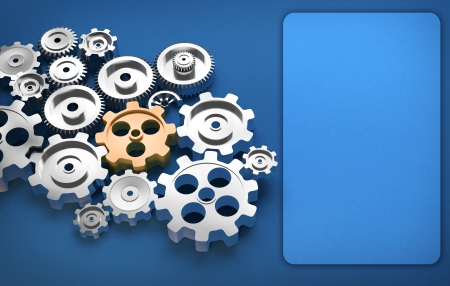 gear machinery and titanium concept Stock Photo - 19266390