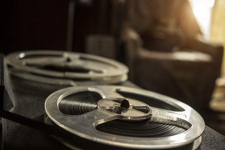 grabadora: The vintage tape recorder Foto de archivo