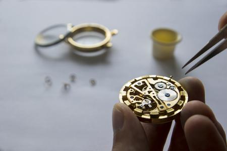 process of repair of mechanical watches, watch repar