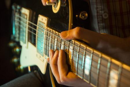 Electic guitar, close up