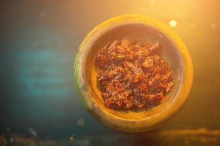 process of cooking shisha, hookah bowl, close up