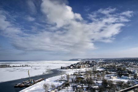 Village on the North Pole, quite harbour Stock Photo