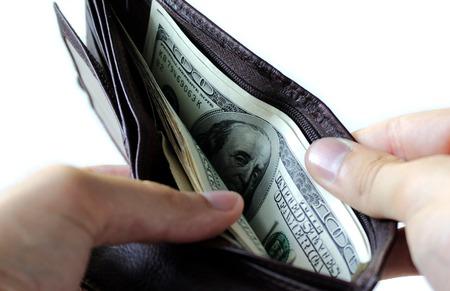 Money in the wallet Фото со стока