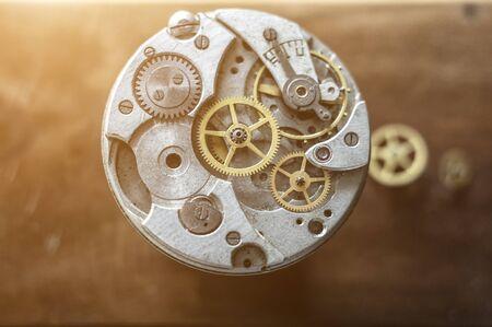 Mechanical watch repair, watchmaker's workshop Фото со стока