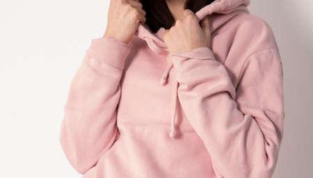 Girld in a pink hoodie Zdjęcie Seryjne