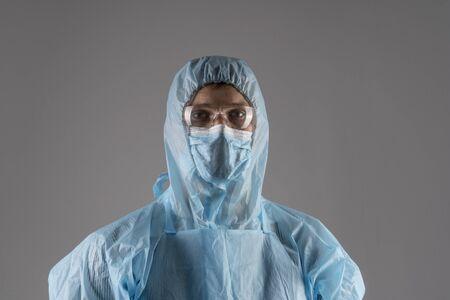 Coronavirus, doctor in protective suit