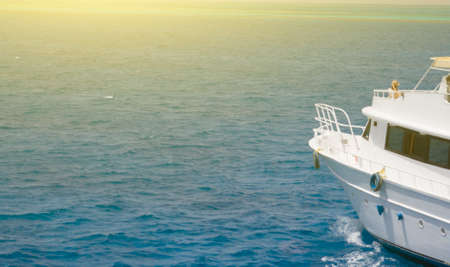 White yachts at sea, sunny day Zdjęcie Seryjne
