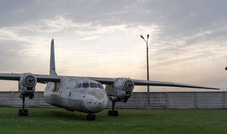 Disassembled airplane parts, aviation decline