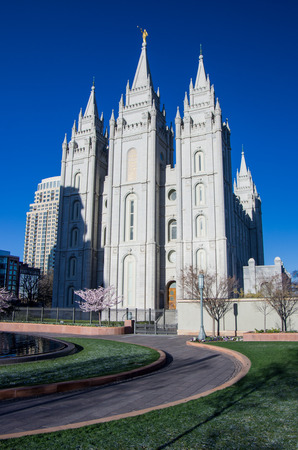 mormon temple: Mormon Temple Stock Photo
