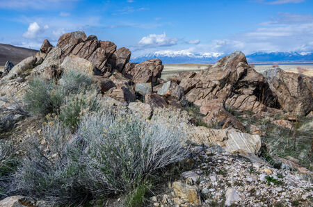 wasatch: Mountains and Rocks on Antelope Island