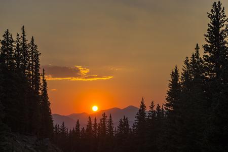 mount evans: Sunset Near Mount Evans