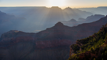 The Sunrise Layers the Grand Canyon