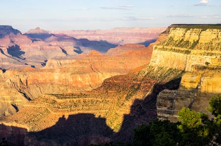 グランドキャニオンの南縁からの眺め 写真素材