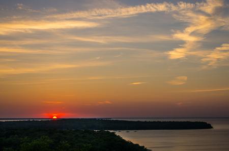 Sunset in Door County 版權商用圖片
