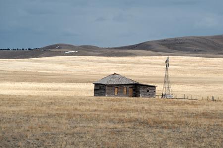 Shack and Windmill on the Utah Prairie