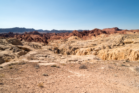 Rugged Landscape in Valley of Fire State Park in Nevada