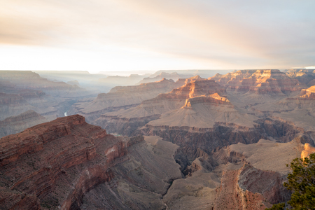 Smoke from a Prescribed Burn Creates a Dramatic View from the South Rim of the Grand Canyon