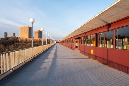 The Washington Avenue Bridge Connects the East Campus to the West Campus at the University of Minnesota in Minneapolis