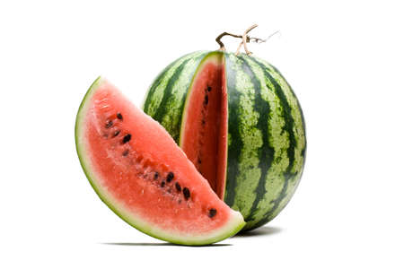 Watermelon on a white background. photo