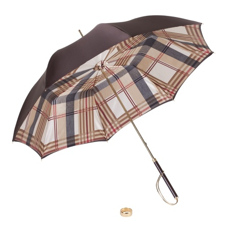 An open umbrella on a white background. Isolated. photo