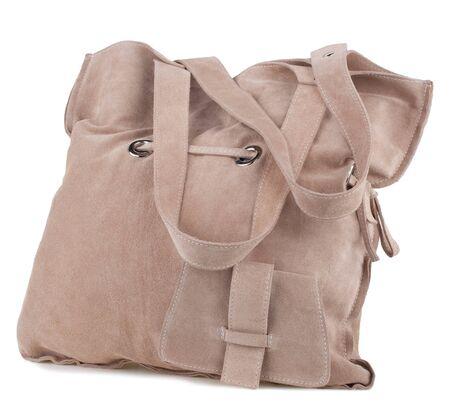 fetishes: Stylish womens handbag on a white background.