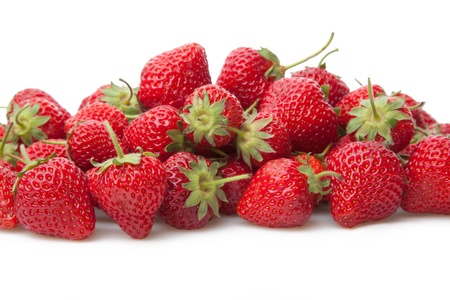 strawberries: Fresh strawberry isolated on white background.