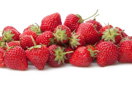 fresh strawberries: Fresh strawberry isolated on white background.