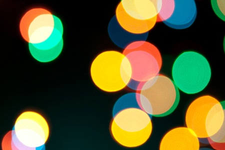 Color Bokeh against a dark background. Stock Photo - 11240336