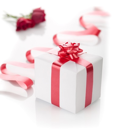 Present in a box on a white background. photo