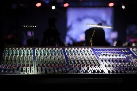 werken plaats geluidstechnicus Stockfoto